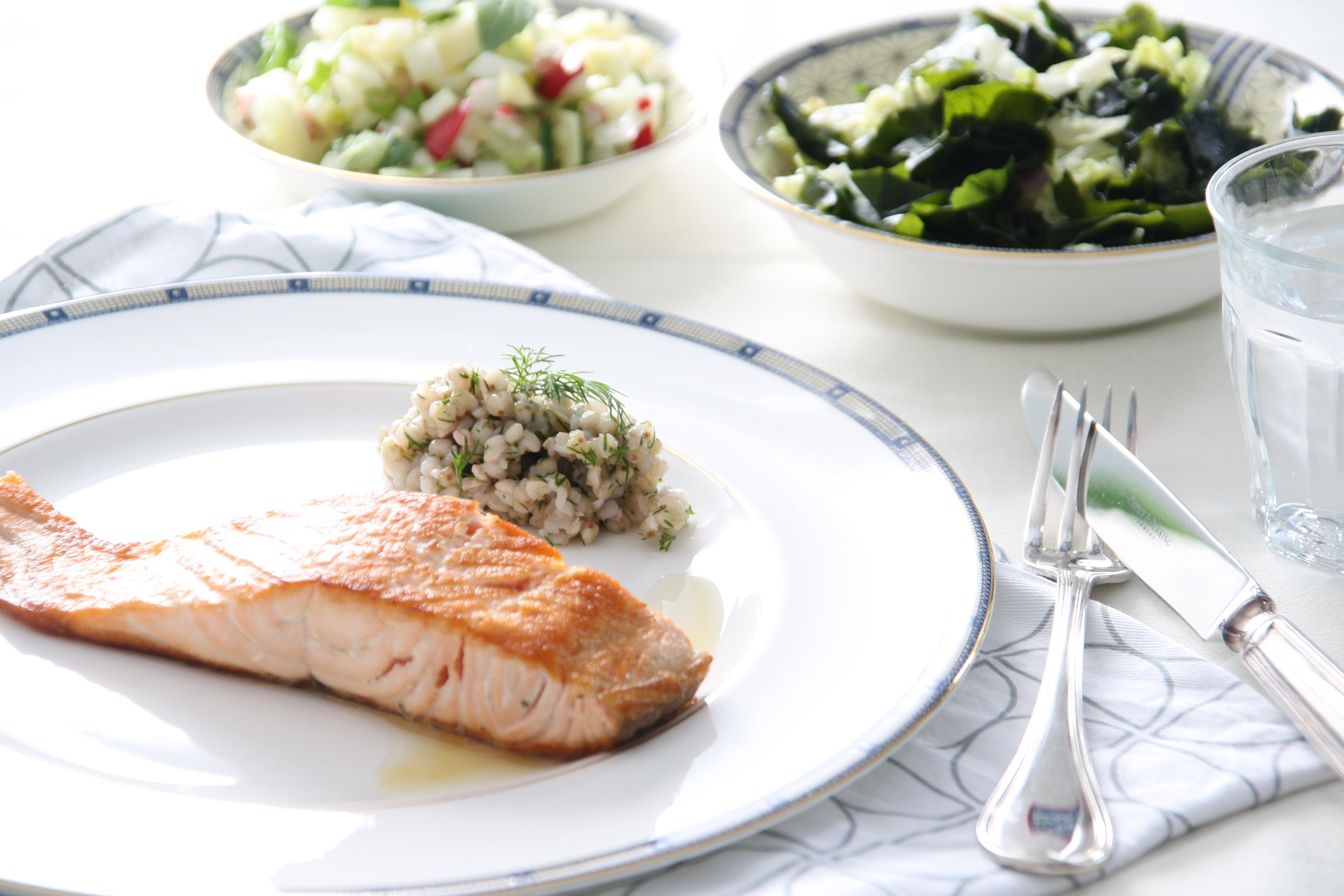 Zalm, zeewier en veggies…